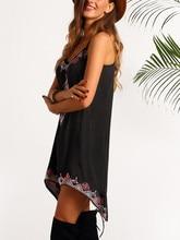 2017 Women Summer Dresses Sexy Women Sleeveless O Neck Party  Beach  Dress Vintage Boho Printed Dress Vestido  #10