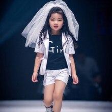 Flower Girl Veils Two Layers White Wedding Communion Hair Decoration Veil For Little Girls Children Hairwear Accessories