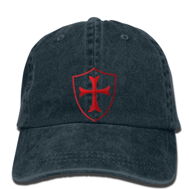 a295ee2aca5 hip hop Baseball caps Knights Templar Templar Cross Mens Fashion cap ...