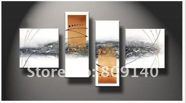 Free Shippin White Orange Abstract Landscape Oil Painting High Quality Handmade Modern Home Decoration Office Wall