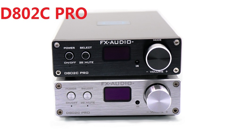 2019 FX-Audio New D802C PRO Bluetooth@4.2 APTX Full Digital Amplifier Input USB/AUX/Optical/Coaxial 24Bit/192KHz 80W*2 DC32V/5A