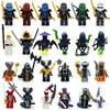 24pcs Lot Compatible LegoINGlys NinjagoINGlys NINJA Heroes Kai Jay Cole Zane Nya Lloyd With Weapons