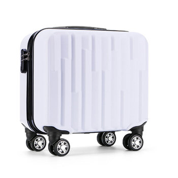 Znane marki wózek pojemnik na bagaże podróży walizka 18 cal abs komputer pokładowy box podróży podręczny ons torba tanie i dobre opinie 3 2kg Spinner 20cm Unisex Y-ROAD TRAVEL Bagaż podręczny ons 43cm 42cm carry on luggage 001 43x42x20cm