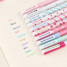 10PCS Multicolor Gel Pens Set Cute Korean Stationery Pen For School Office