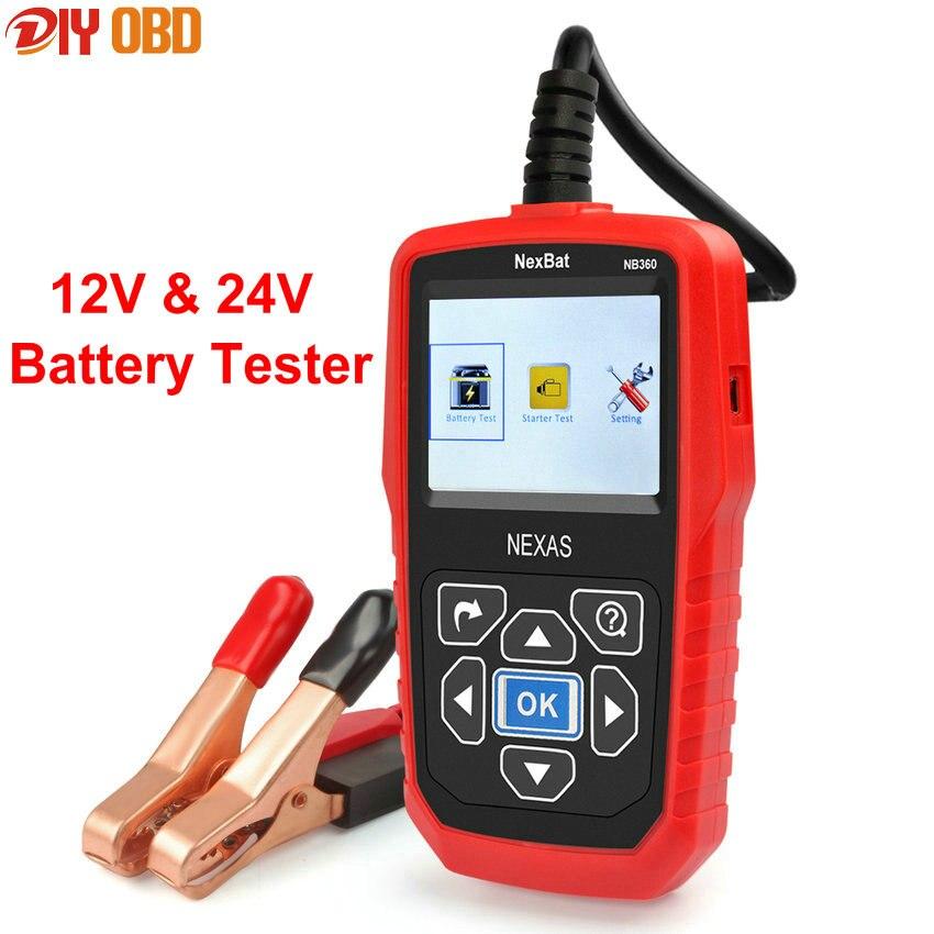 Prix pour Multi-Langue 12 V et 24 V Batterie Testeur NB360 Analyseur de Batterie Pour Batterie Charge Tension/Démarrage Système/Tension de charge Test