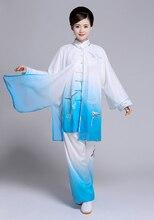 Customize Tai chi clothing taiji uniform Martial arts suit wushu clothes kungfu outfit for women men girl boy kids children