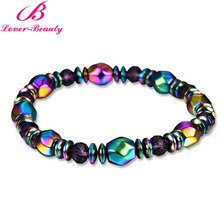Lover Beauty Colorful Twisted Magnet Health slimming Bracelets Jewelry magnetic Bangles charm bracelets For Women weigh