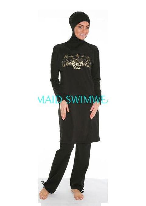 Bain musulman modeste musulman maillot de bain filles pour les femmes plage Burkinis islamique Sport porter bain hijab maillot de bain pas cher