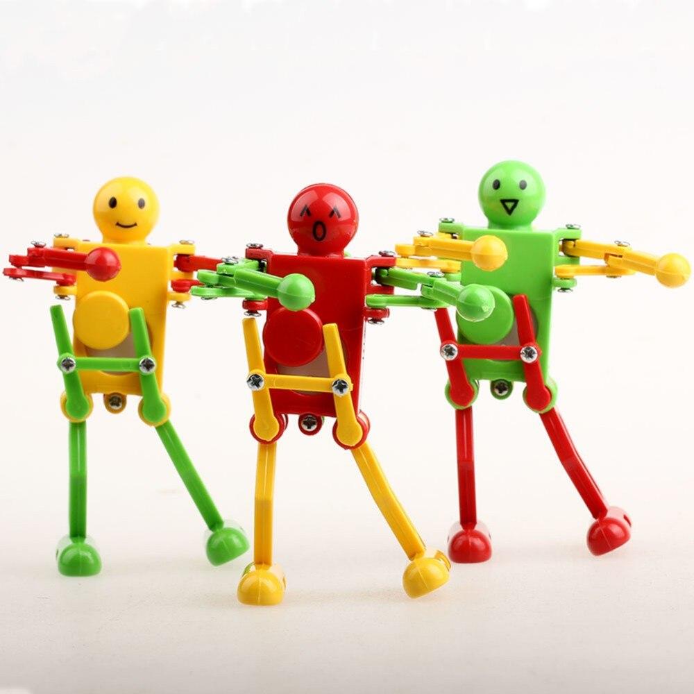 High quality Clockwork Spring Wind Up Dancing Robot For Children Kids fun Toy Gift