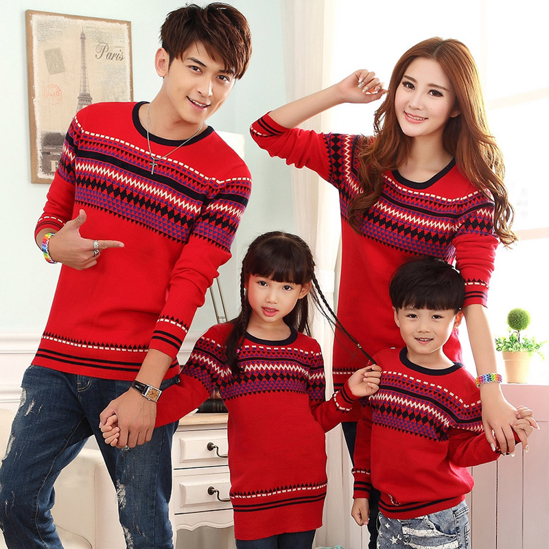 2015 Fashion 3 Pcs Family Matching Christmas Sweaters