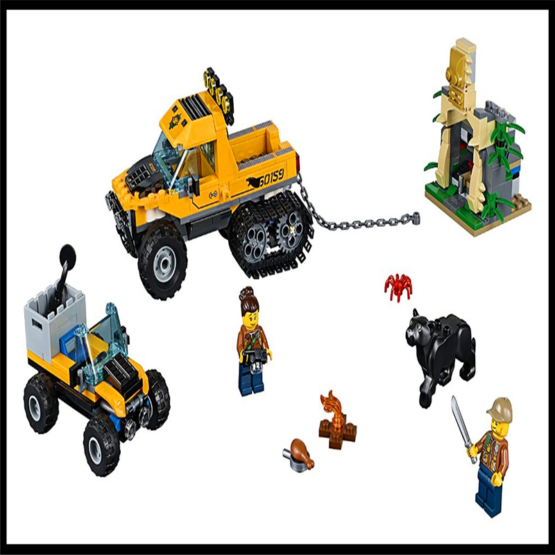 LEPIN 02064 404Pcs Jungle Semi-Track Car Model Building Block Construction Figure Toys Gift For Children Compatible Legoe hot wheels 4 in 1 super track suit car toy new design multifunctional gift box hotwheels track car model dlf28 for christmax
