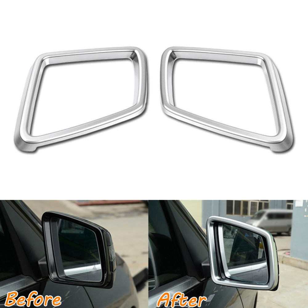 Car Styling Rearview Rear view Mirror Frame Cover Trim Chrome ABS Sticker For Mercedes Benz ML