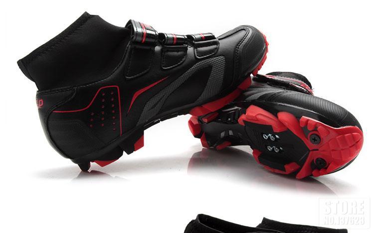 montanha auto-bloqueio botas de tornozelo alto triathlon sapatos de bicicleta EU38-47
