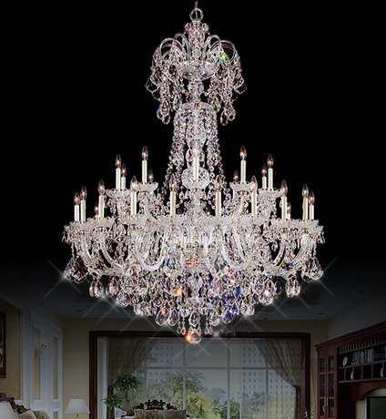 Hotel 30 pcs Deluxe clear crystal chandelier lighting lampada Great - Indoor Lighting - Photo 3