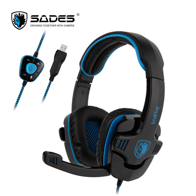 SADES WOLFANG Virtual 7.1 Surround Sound Headphones Rotatable