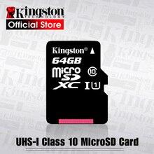 Kingston tarjeta de memoria flash para teléfono inteligente, tarjeta Micro sd Class10 UHS 1, 8G, C4, TF/SD, 128GB, 64GB, 32GB, 16GB