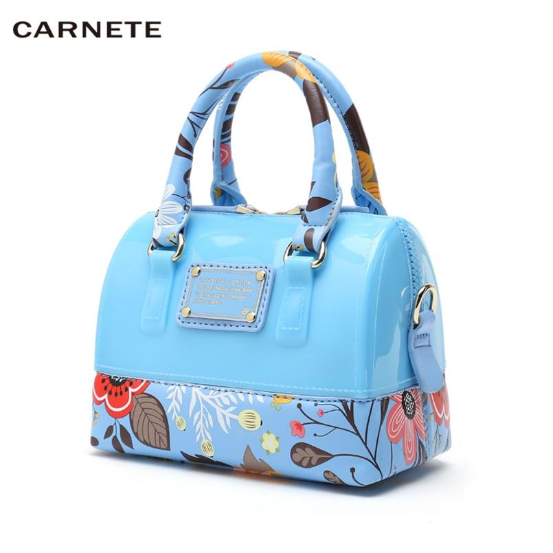 CARNETE femmes sac marque femmes sac à main PU Famale sac à bandoulière Designer luxe femmes gelée sacs 2019 nouveau bolsa feminina mochila