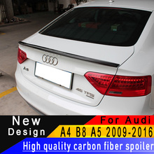 Для Audi A4 B8 2009-2012 A5 2009-2016 Превосходное качество Спойлер из углеволокна спойлер заднего крыла