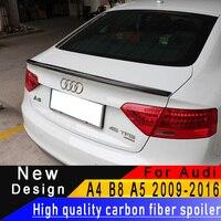 For Audi A4 B8 2009 2012 A5 2009 2016 Superior quality Carbon fiber spoiler rear wing spoiler