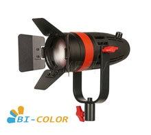 1 pc CAME TV boltzen 55w fresnel focusable led bicolor com saco led luz de vídeo