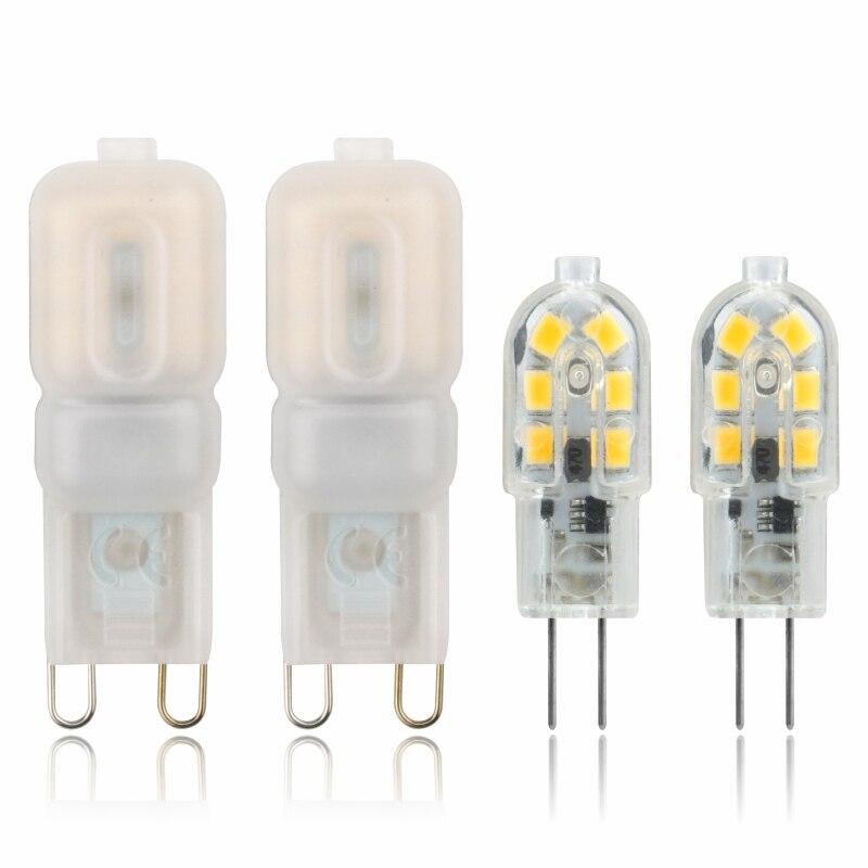 2pcs/lot LED Bulb 3W 5W G4 G9 Light Bulb AC 220V DC 12V LED Lamp SMD2835 Spotlight Chandelier Lighting Replace Halogen Lamps