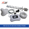 Potente smart 1700 mhz 3g 4g lte repetidor móvil de la señal booster 3g 4g celular amplificador de señal 3g 4g repetidor kit con Yagi