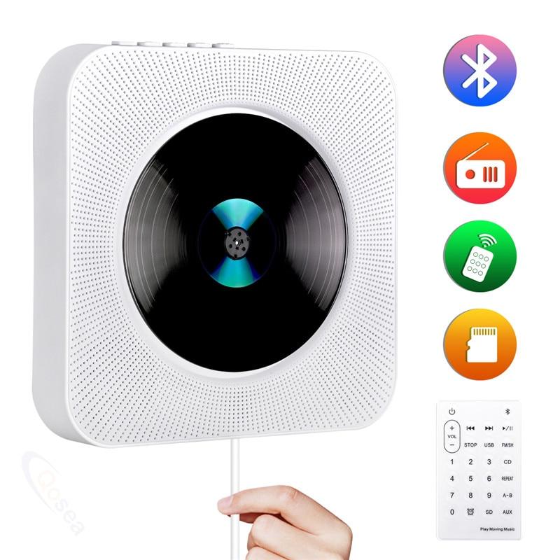 Lecteur CD Portable lecteur CD mural Bluetooth baladeur LCD affichage Audio maison Boombox avec télécommande Radio FM musique