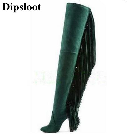 Dipsloot Tassel Over-the-knee Boots 2017 Round Toe Zip Shoes Women Chunky Heels Sheepskin Women Autumn Long Boots Free Shipping 92213311 92252257 remote flip car key for holden ve commodore 3 button with horn gm46lck chip 434 mhz gm45 key free shipping