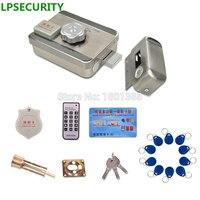 LPSECURITY Kit Sistema de Controle de Acesso Fechadura Da Porta Portão Elétrico com Chave + RFID Reader Teclado (opcional) + controle remoto controle (opcional)