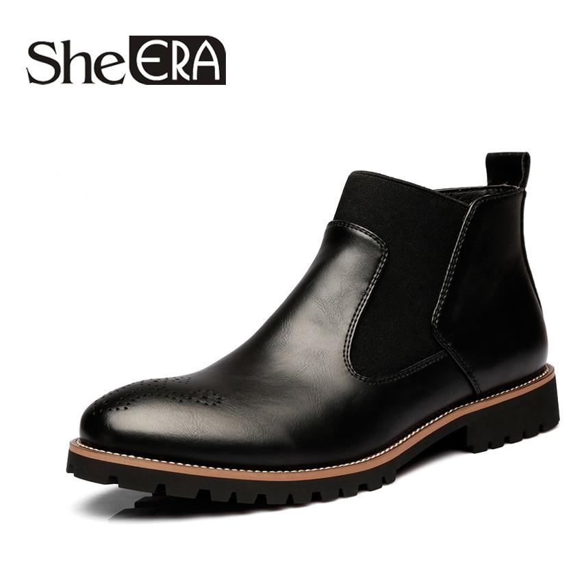 Elle ère 2019 été nouvelles bottes pour hommes mode confortable grande taille Brock décontracté bottes chaussures pour hommes bottes Martin pour hommes