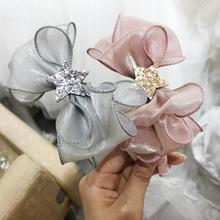 2019 New Stars Chiffon Ribbon Bowknot Hair bands Princess ha