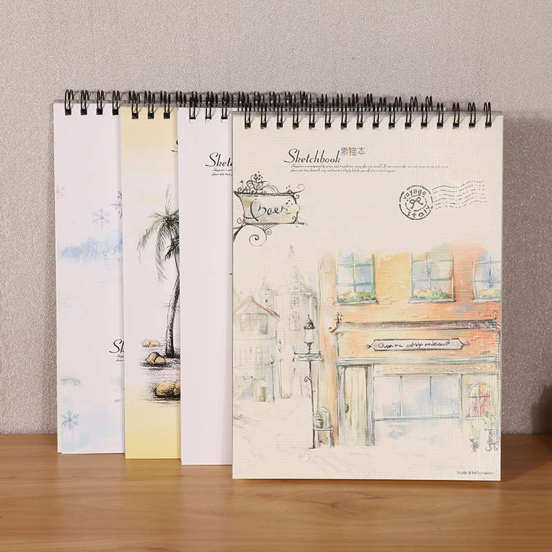 The art of painting hand-painted sketch blank A4 Sketch Book for Student with the picture of this paper draw the color book iarts hand painted the owner of the pet shop oil painting red 60 x 40cm
