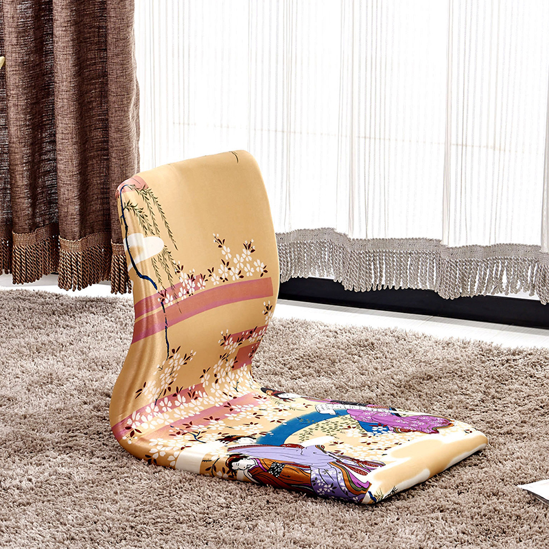 (2pcs/lot) Japanese Game Chair Living Room Furniture Tatami Meditation Backrest Floor Zaisu Legless Chair Design For Kotatsu private villa living room chair retail