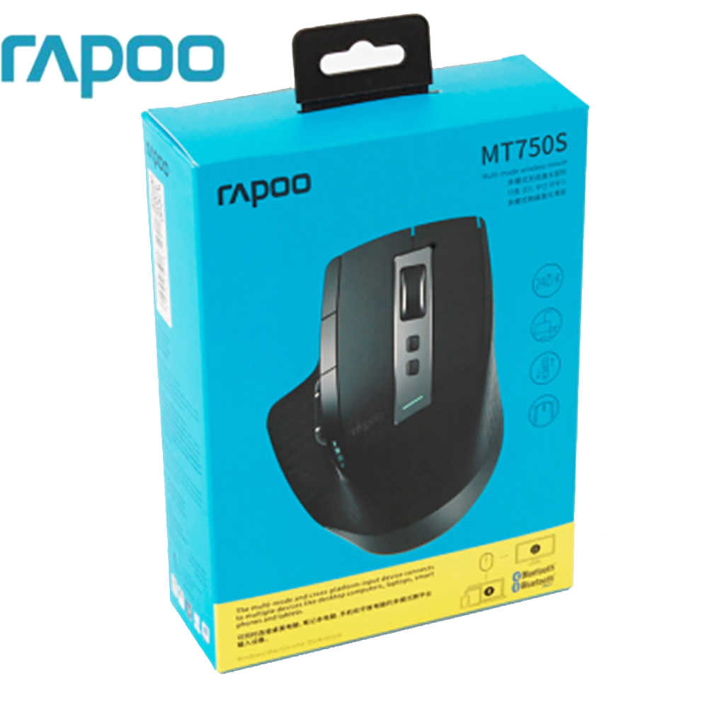 76f6fd72118 Original Rapoo MT750/MT750S Rechargeable Multi-mode Wireless Mouse Gaming  Mouse Switch between Bluetooth