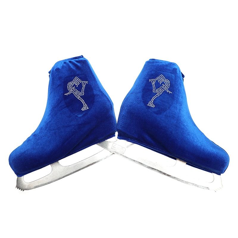Nasinaya Figure Chaussures Couverture de Velours pour Enfants Adulte De Patinage De Protection Rouleau Skate Glace De Patinage Accessoires brillant Strass 5