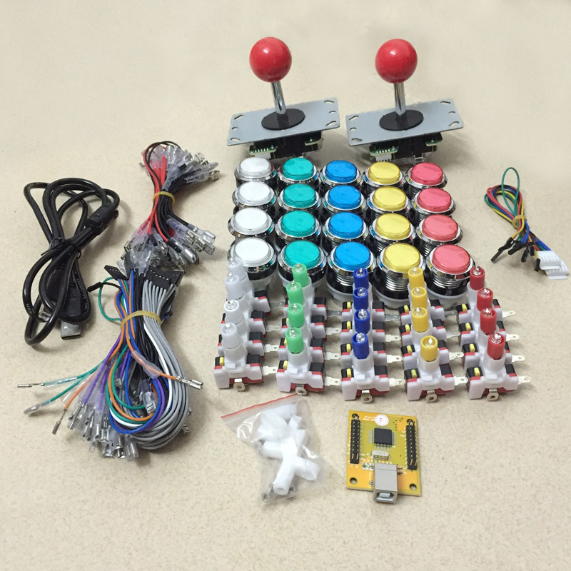 Arcade PC PS/3 game joystick and button DIY parts with 2 players USB interface controller for MAMEArcade PC PS/3 game joystick and button DIY parts with 2 players USB interface controller for MAME