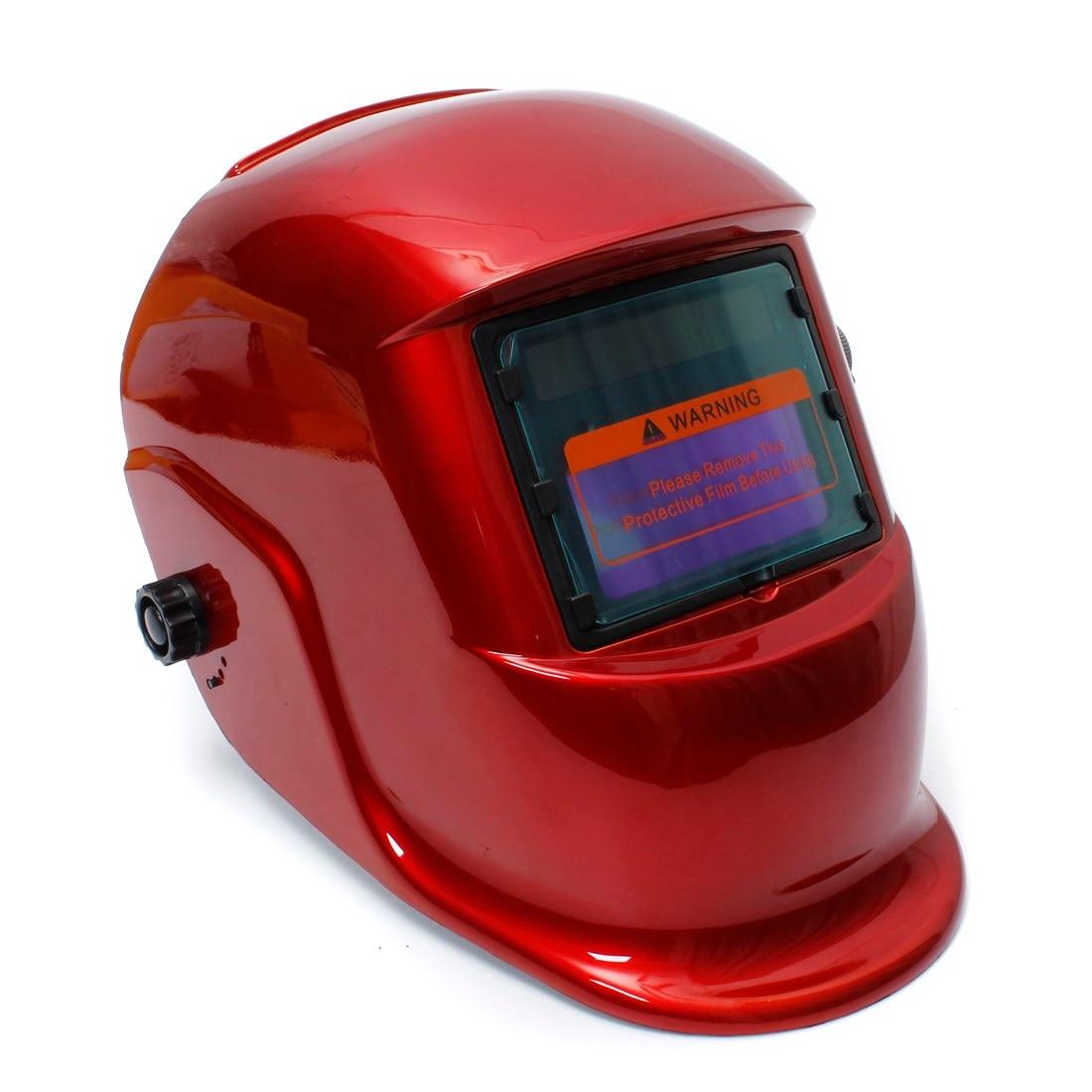 цена на Red Solar Auto Darkening Welders Welding Helmet Mask Tig Mag Grinding Function
