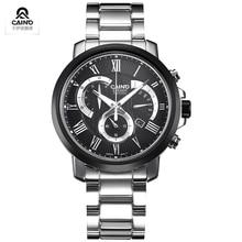Топ Известный CAINO Часы Благородный Джентльмен Роскоши Глядя С Окошком Даты Бизнес Случайный Часы Римские цифры
