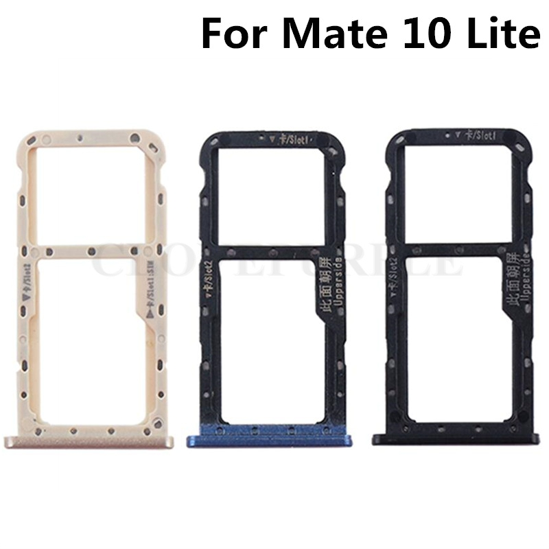20 pcs/lot Nano SIM/Micro SIM carte porte-plateau Micro SD carte Slot adaptateur pour Huawei Mate 10 lite/G10/Honor 9i Nova 2i
