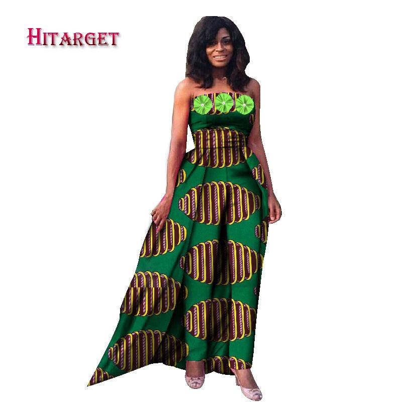 ba28cc2d211e7 2019 New fashion Fashion Africa Cotton Wax Print Romper African Bazin Riche  Jumpsuit For Women Dashiki Fitness Jumpsuit WY867