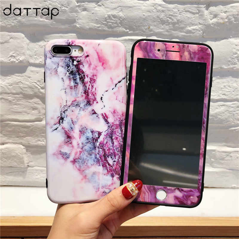 360 Degree Full Body Protective Case For iPhone X 6 6S 7 8 Plus Fashion  Marble 5524817974