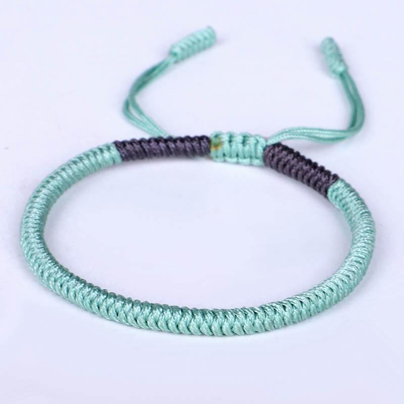 Tibetan Buddhist Handmade Knots Lucky Rope Bracelets For Women Men Buddhism braided Jewelry Multi Colors Happiness