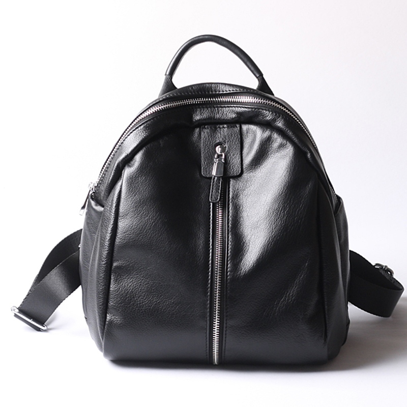 Fashion Backpacks for teen girls school bags women soft handle genuine leather casual back pack mochila high quality youth style