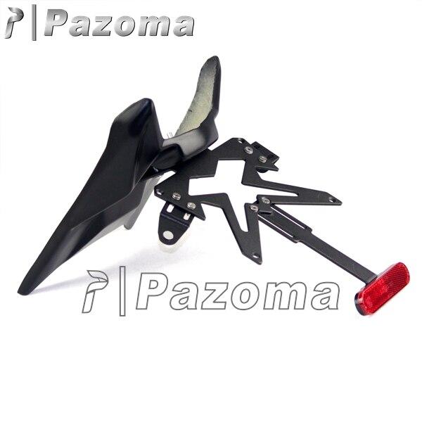 Support de plaque d'immatriculation de garde-boue PAZOMA support de feu arrière vélo de saleté Sport ATV pour Kawasaki Ninja ZX250/250R 2008-2012 livraison gratuite