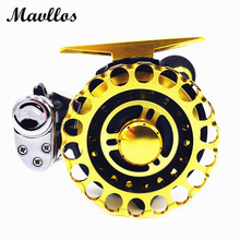 Mavllos Gold 9 Bearings Metal Spool Baitcasting Trolling Reels Saltwater Fly Fishing Reel High Ratio 2.6:1 Left Right Hand