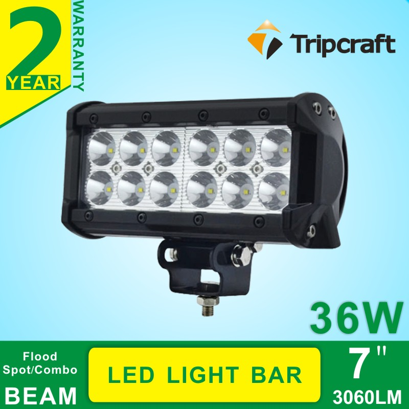7 36W Cree LED Work Light Bar Lamp FOR Tractor Boat Off-Road 4WD 4x4 12v 24v Truck SUV ATV Spot Flood Super Bright