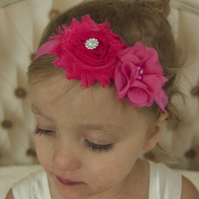 16 Pcs Shabby Chic Fleurs Cheveux Accessoires Pas Cher Cheveux Fleur