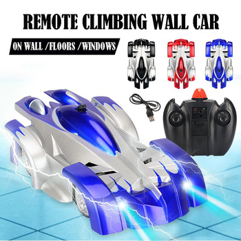 1PCs RC car Remote Control Climbing RC Car with LED Lights 360 Degree Rotating Stunt Toys Machine Wall RC CAR Boy Christmas gift 1