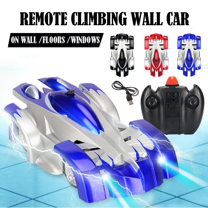 Image 2 - 1PCs RC car Remote Control Climbing RC Car with LED Lights 360 Degree Rotating Stunt Toys Antigravity Machine Wall RC CAR-in RC Cars from Toys & Hobbies