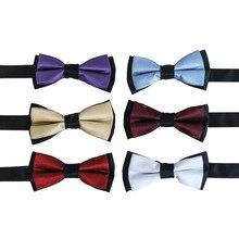 Nimble Red Blue Purple Bow Tie For Boy's Formal Suit